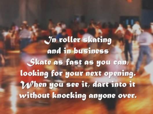business - roller skating